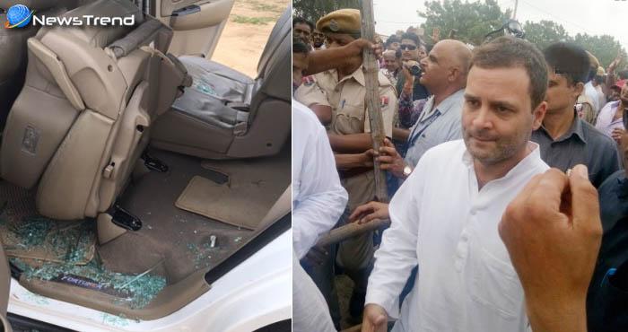 गुजरात : बाढ़ पीड़ितों से मिलने पहुंचे राहुल गांधी पर हमला, एक कांग्रेसी नेता घायल