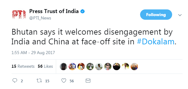 Bhutan reaction on doklam matter