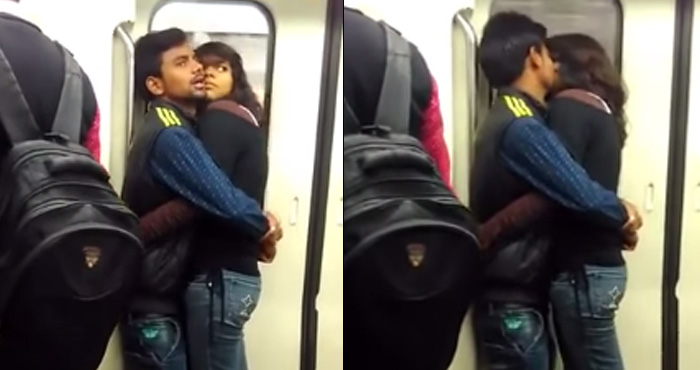दिल्ली मेट्रो में इस कपल ने की ऐसी हरकत की शर्म से झुक गयी लोगों की निगाहें, देखें वीडियो