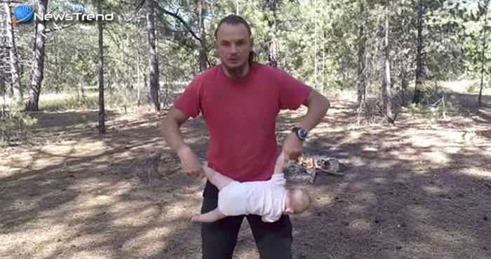 इस व्यक्ति ने अपने 4 महीने के बच्चे के साथ किया कुछ ऐसा, देखकर खड़े हो जायेंगे आपके रोंगटे