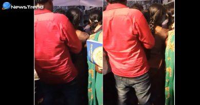 गणेश उत्सव के दौरान महिला के साथ 'गलत हरकत' करते रंगेहाथ पकड़ा गया मनचला – देखें वीडियो