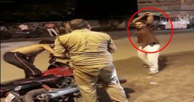 दबंगों से पुलिस वाले भी खौफज़दा, सरेआम पुलिस वाले को पिटता देख हो जायेंगे हैरान