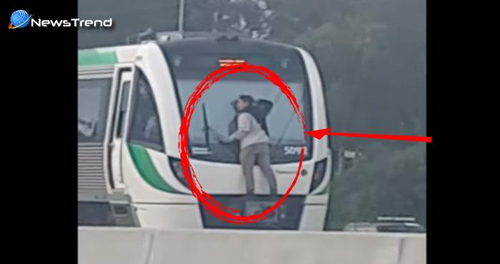 तेज रफ़्तार ट्रेन पर झूल गया लड़का उसके बाद जो हुआ जानकर उड़ जायेंगे आपके होश...देखें वीडियो
