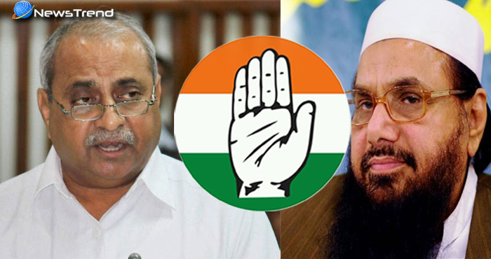 गुजरात के डिप्टी सीएम का विवादित बयान, सत्ता की लालच में कांग्रेस पार्टी में कर ले हाफिज सईद को भी शामिल