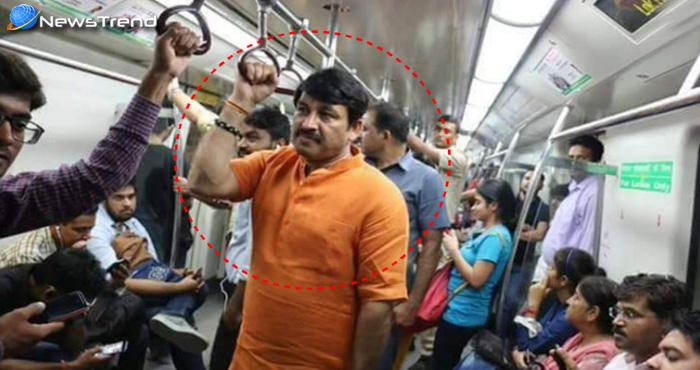 BJP सांसद मनोज तिवारी की आपत्तिजनक फोटो वायरल, जानिए मेट्रो में क्या कर रहे थे मनोज तिवारी?