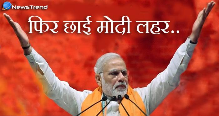 फिर छाई मोदी लहर : गुजरात में बीजेपी के लिए बड़ी खुशखबरी, पक्की हो गई मोदी की जीत