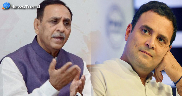 गुजरात के मुख्यमंत्री रूपाणी ने बोला राहुल पर हमला, राहुल को नहीं दिखता विकास, वह हैं चमगादड़ों के नेता