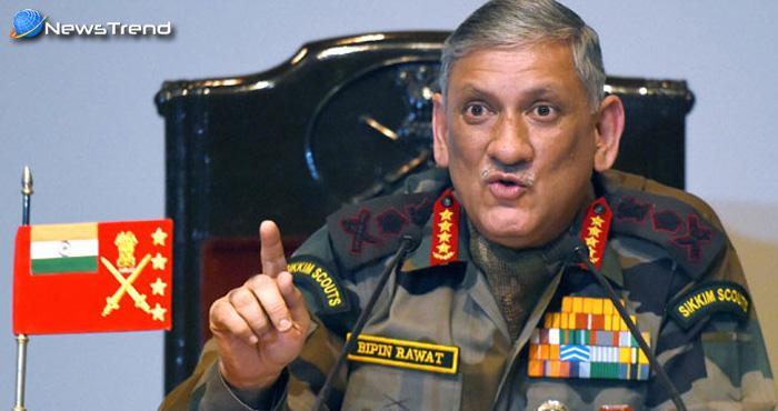 सेना प्रमुख बिपिन रावत का बयान, डोकलाम में अभी भी मौजूद हैं भारत और चीन के सैनिक