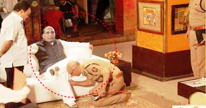 राजनाथ सिंह को बदनाम करने के लिए कांग्रेसियों ने चली 'गंदी चाल', सोशल मीडिया पर फैलाई ये तस्वीर