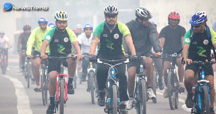 पर्यावरण के प्रति संजीदगी, साइकिल चलाकर दिया पर्यावरण के प्रति जागरूकता का सन्देश