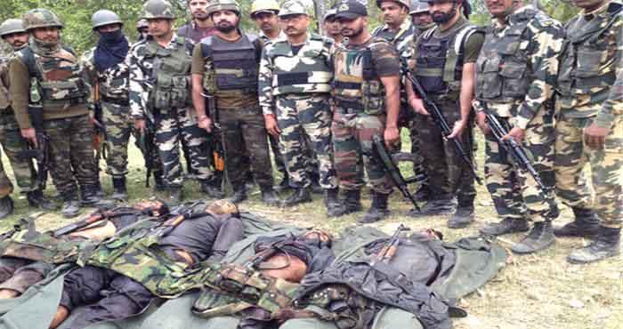 भारतीय सेना ने दिखाया अपना दम, मार गिराया पाँच आतंकियों को और कर दिए आतंकियों के हौसले पस्त