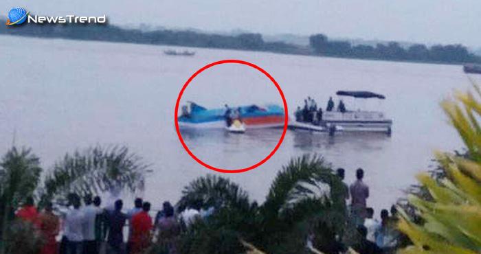 कृष्णा नदी में नाव पलटने से बड़ा हादसा, 17 लोगों की मौत अन्य की तलाश जारी