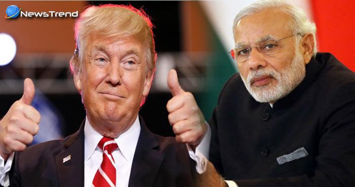 भारत के विकास को असाधारण बताते हुए अमेरिकी राष्ट्रपति ट्रम्प ने की पीएम मोदी की तारीफ़