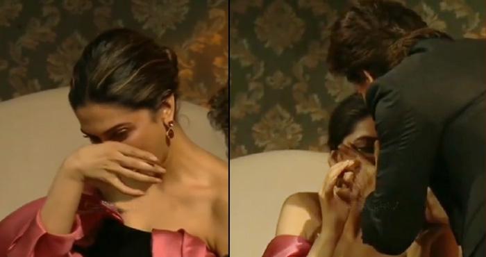VIDEO: शाहरुख़ के सामने रो पड़ीं दीपिका, शाहरुख़ ने अपने हाथों से पोंछे आंसू