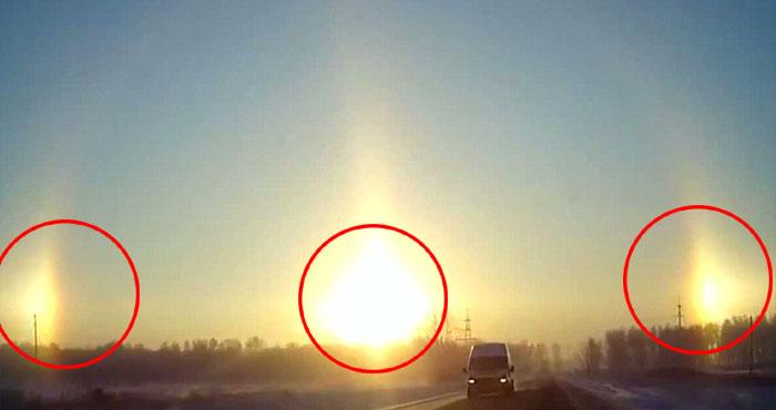 चीन में एक साथ दिखें 3 सूरज, खूबसूरत नज़ारे को देख वैज्ञानिक भी हैरत में