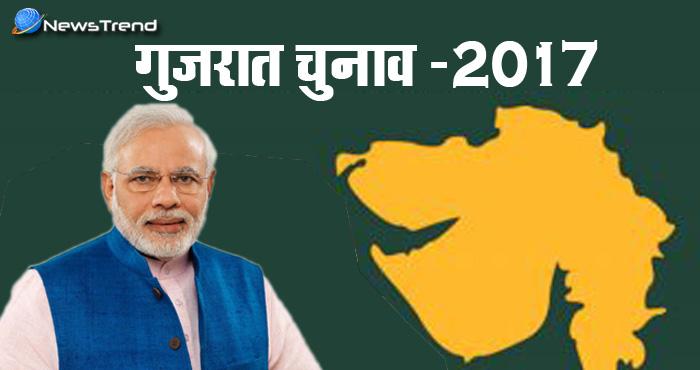 गुजरात चुनाव नतीजे: शुरूआती रुझानों में बीजेपी ने कांग्रेस को बुरी तरह पछाड़ा