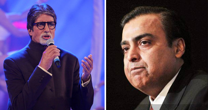 स्टेज पर अमिताभ बच्चन ने कहा कुछ ऐसा कि सामने बैठे मुकेश अंबानी रो पड़े