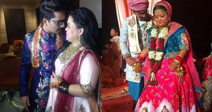 आखिरकार कॉमेडियन भारती भी बंध गयी शादी के बंधन में, पार्टी में डिज़ाइनर लहंगा पहन कर दीए सेक्सी पोज़