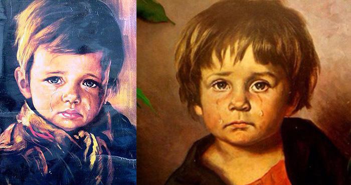 रोते हुए बच्चे की यह पेंटिंग है शापित, जिसनें भी लगायी घर में हुआ हादसे का शिकार