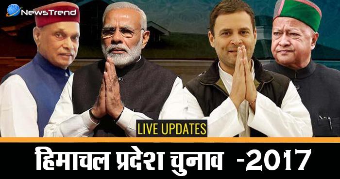 हिमांचल प्रदेश चुनाव नतीजे: कांग्रेस को काफी पीछे छोड़ते हुए बीजेपी हासिल कर सकती है बहुमत