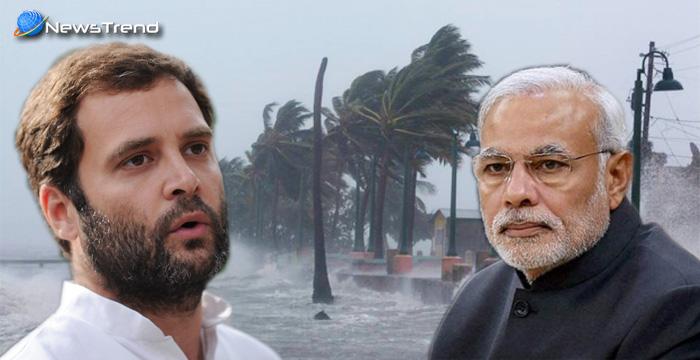 ओखी तूफान बना गुजरात चुनाव प्रचार के रास्ते में रोड़ा,मोदी से लेकर राहुल गाँधी तक की जनसभाए रद्