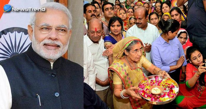 गुजरात चुनाव में प्रधानमंत्री मोदी की सफलता के लिए जशोदाबेन ने की महाकाल से प्रार्थना