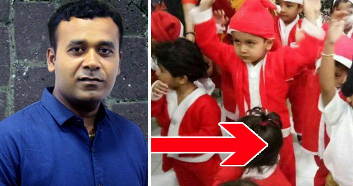 सेंटा के ड्रेस में स्कूल पहुँचे बच्चे, पर RSS कार्यकर्ता की बेटी की ड्रेस देख हर कोई रह गए दंग
