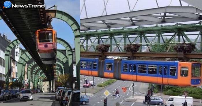 इस देश में ट्रेन पटरी पर सीधी नहीं बल्कि लटककर चलती है, देखकर नहीं होगा अपनी आँखों पर यकीन