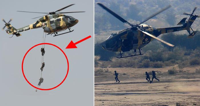 सेना दिवस से पहले हुआ बड़ा हादसा, हेलीकॉप्टर से गिर गए 3 जवान – देखिए वीडियो