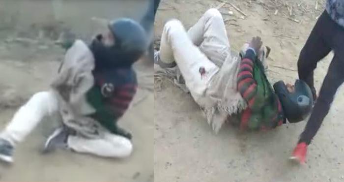 युवक की लाठी-डंडों से पिटाई, देवी-देवताओं के पोस्टर के साथ कर रहा था ऐसा काम – वायरल हुआ वीडियो