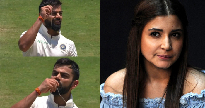Virat kohli century kissed engagement ring