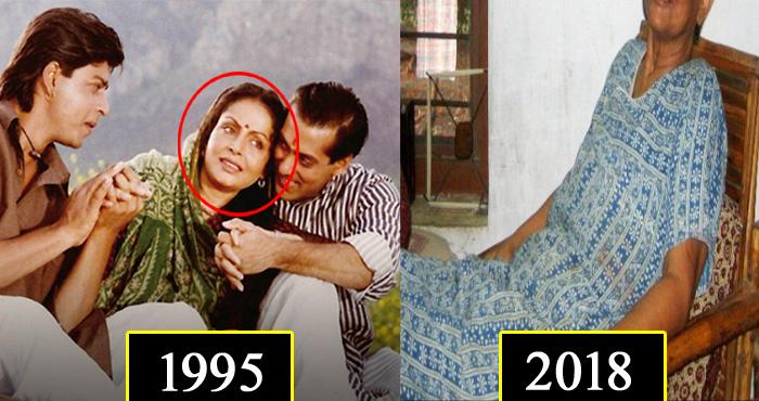 """""""करण अर्जुन"""" फिल्म में थीं सलमान और शाहरुख की माँ, लेकिन आज इनकी हालत देखकर आप रह जायेंगे हैरान"""
