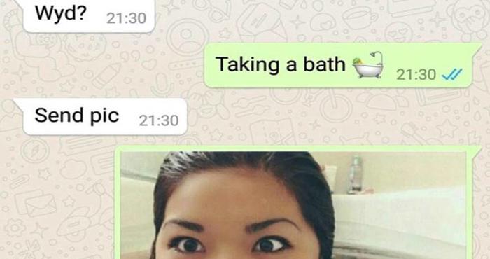 लड़के ने व्हाट्सएप पर नहाती हुई महिला से मांगी तस्वीर, पर फोटो देखते ही उड़ गए होश !