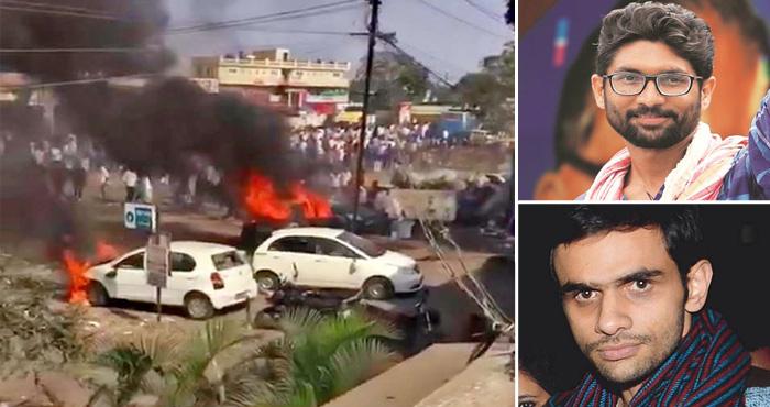 भीमा-कोरेगांव हिंसा:13 शहरों में हिंसा के बाद प्रदेश बंद ऐलान, जिग्नेश-उमर के खिलाफ मुकदमा दर्ज