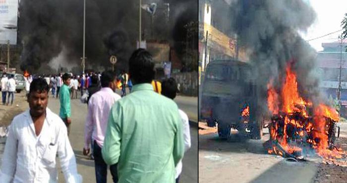 अंग्रेजों की जीत का जश्न मनाने पर पुणे और महाराष्ट्र मे मचा बवाल, 25 से अधिक गाड़ियां जला दी गई