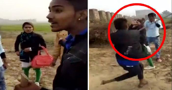 चीखती रही युवती पर पीट-पीट कर वीडियो बनाते रहे युवक, वजह जान दंग रह जाएंगे