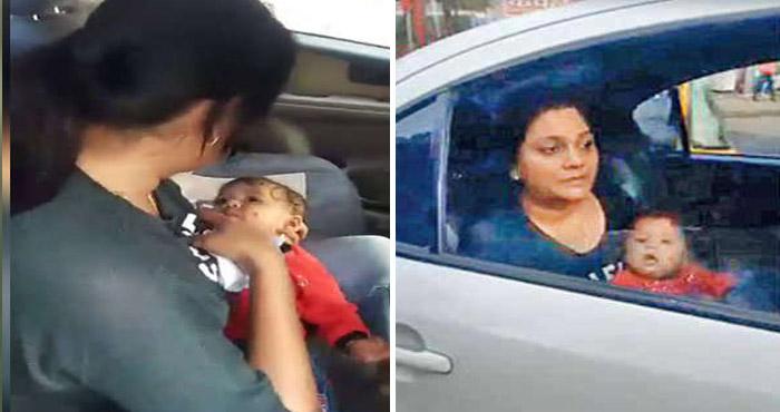 मुंबई पुलिस की घिनोनी करतूत: कार में अपने बच्चे को दूध पिला रही थी महिला और उठा कर ले गये