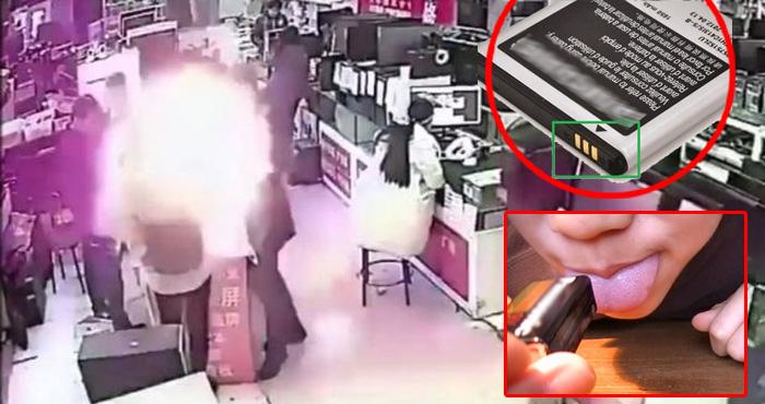 मोबाइल फोन यूजर्स सावधान, मुंह में कभी न ले बैटरी वर्ना हो सकता है ऐसे ही धमाका – वीडियो