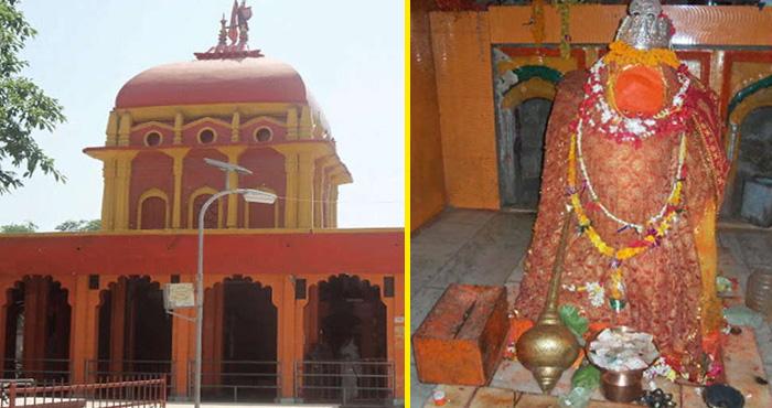 इस चमत्कारी मंदिर में हनुमान जी का एक पैर धंसा हुआ है जमीन के अन्दर, रहस्य कर देगा आपको हैरान