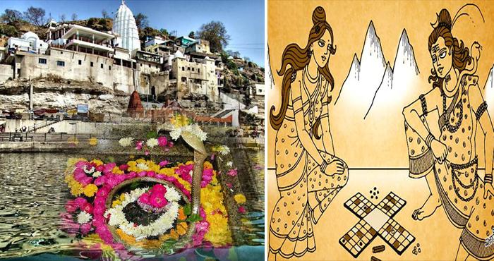 ओंकारेश्वर मंदिर | पांसे खेलते है भगवान शिव और माता पार्वती |