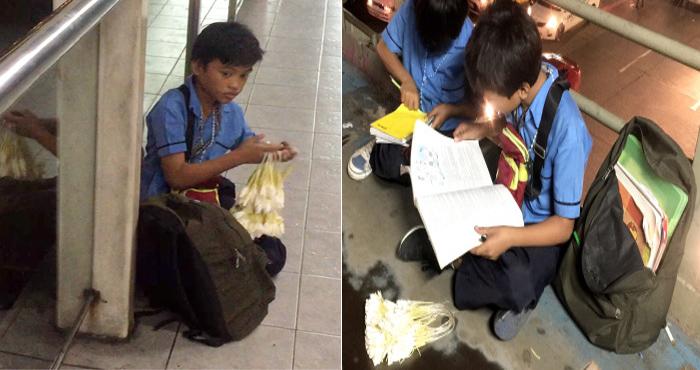 गरीबी मां की मदद के लिए दिन में पढ़ाई और रात में फूल बेचते हैं ये मासूम, देखिए उनकी रुला देने वाली कहानी