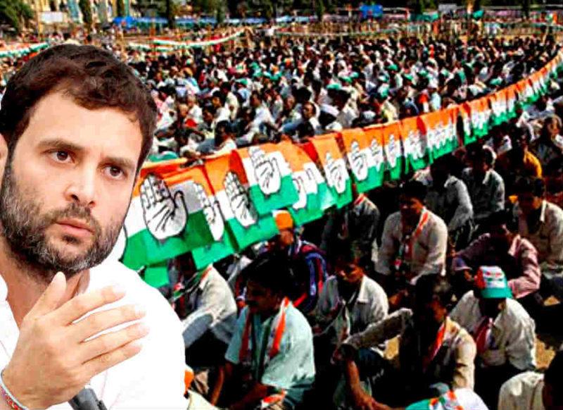 कर्नाटक में कांग्रेस की वापसी पर छाए संकट के बादल, राहुल को दिखाए गये काले झंडे