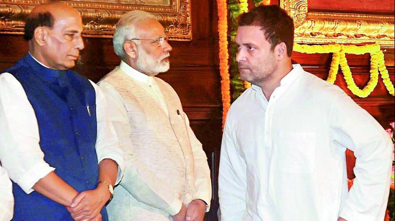 राहुल ने राजनाथ का जताया आभार बोले, 'सत्ता को सच बताने के लिए थैंक्स'