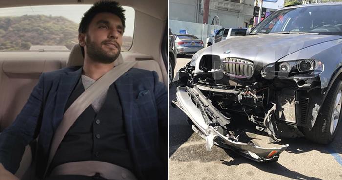 रणवीर सिंह का कार एक्सीडेंट, कार एक्सीडेंट में बाल-बाल बचें रणवीर सिंह, दीपिका पादुकोण ने ड्राइवर को दी ये सजा