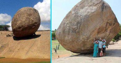 ढलान पर पत्थर