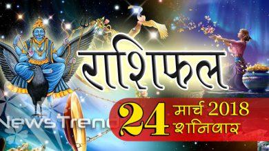 Rashifal 24 March 2018, 24 march horoscope, 24 मार्च राशिफल, astrological predictions, daily predictions, आज का राशिफल, दैनिक राशिफल, राशिफल, राशिफल 24 मार्च