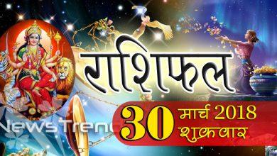 Rashifal 30 March 2018, 30 march horoscope, 30 मार्च राशिफल, astrological predictions, daily predictions, आज का राशिफल, दैनिक राशिफल, राशिफल, राशिफल 30 मार्च