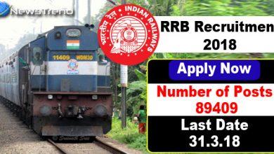 Photo of बड़ी ख़बर: रेलवे में निकली 89409 पदों के लिए जॉब, 31 मार्च है आवदेन की आखिरी तारीख़!