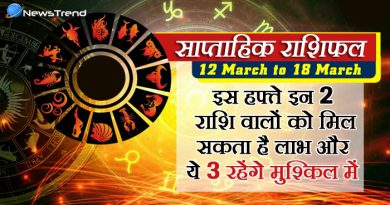 weekly 12 march to 18 march 2018, 12 march horoscope, 12 मार्च राशिफल, weekly horoscope, Rashifal 12 march, Weekly astrological predictions, Rashifal, weekly rashifal, साप्ताहिक राशिफल.