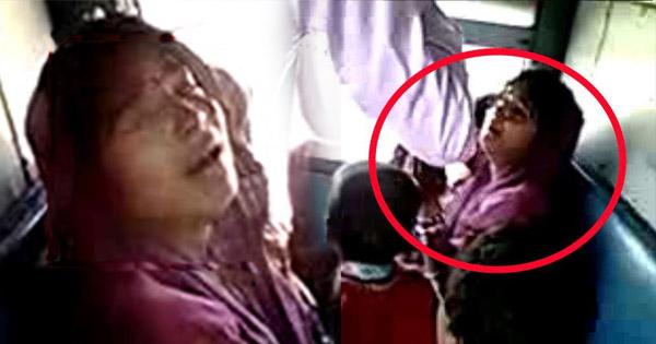 ट्रेन में छुपकर महिला कर रही थी चोरी